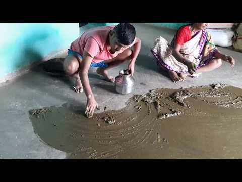 How to apply COW DUNK on Floor | Village Vlog |Marathi Vlog