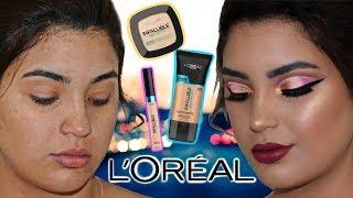 Tutorial de maquillaje y Reseña sobre L'ORÉAL / Si yo puedo maquillarme asi tu tambien puedes