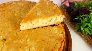 Картофельный пирог на кефире - сытный вкусный и простой.