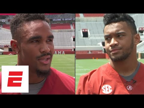 Jalen Hurts, Tua Tagovailoa openly address Alabama QB battle | ESPN