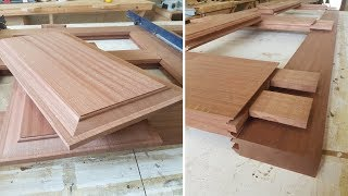 Making a Sapele Door