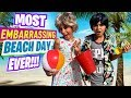 Embarrassing Beach Day - Summer Funny Skits - Miss Mom Vlogs : Sketch Comedy // GEM Sisters