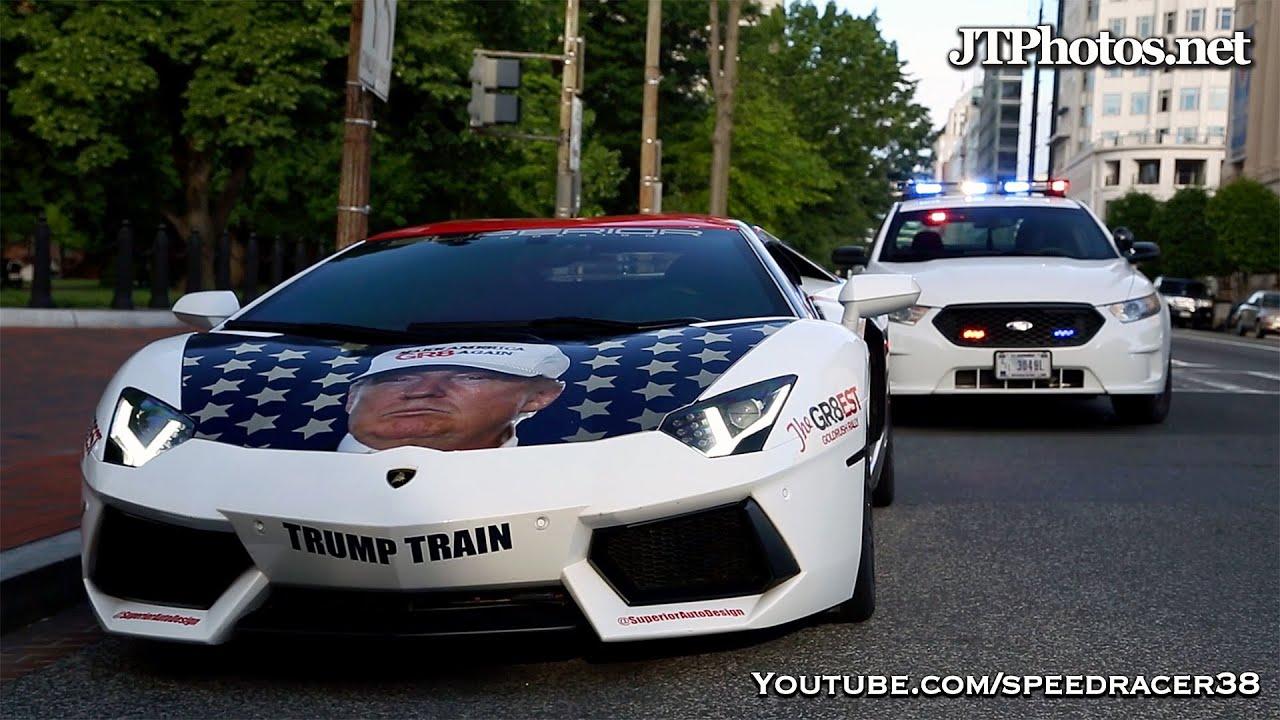 Driving the Lamborghini Trumpventador to the White House - YouTube
