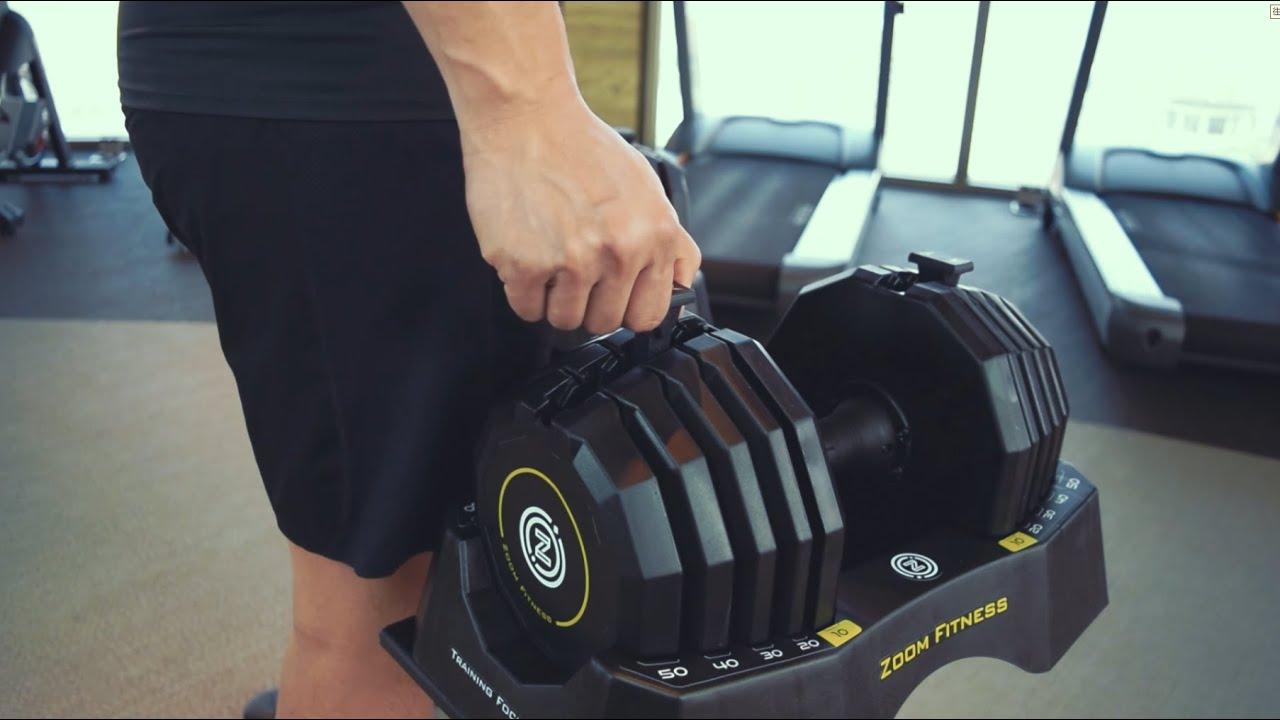 Zoom 50LB調整式啞鈴 | 在任何時間 選擇想要的重量 開始提升自己 - YouTube