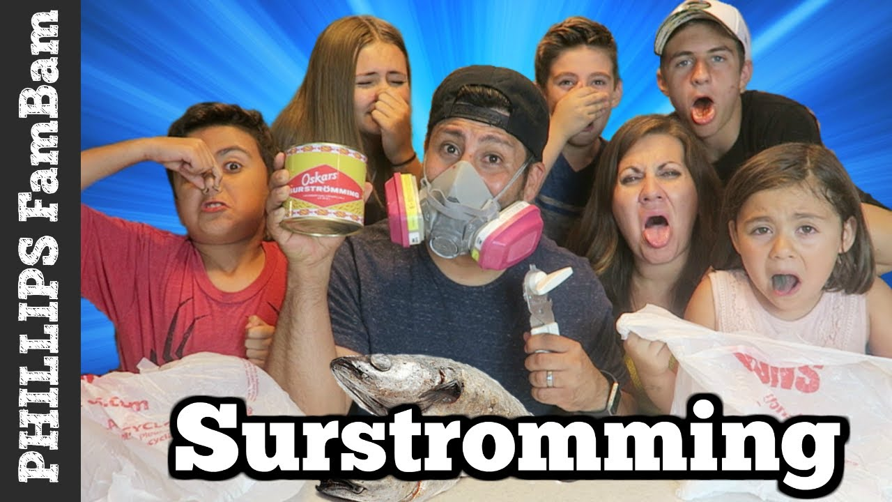 Americans try surstromming smelliest food in the world for Stinky fish in a can