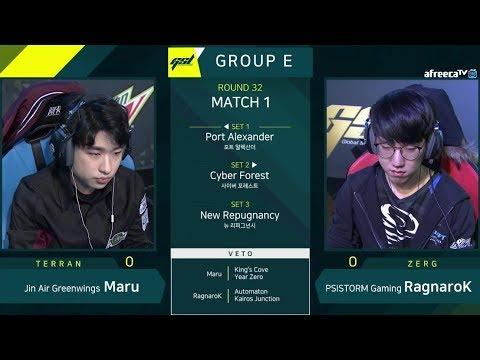 [2019 GSL Season 1] Ro.32 Group E Match1 Maru vs RagnaroK