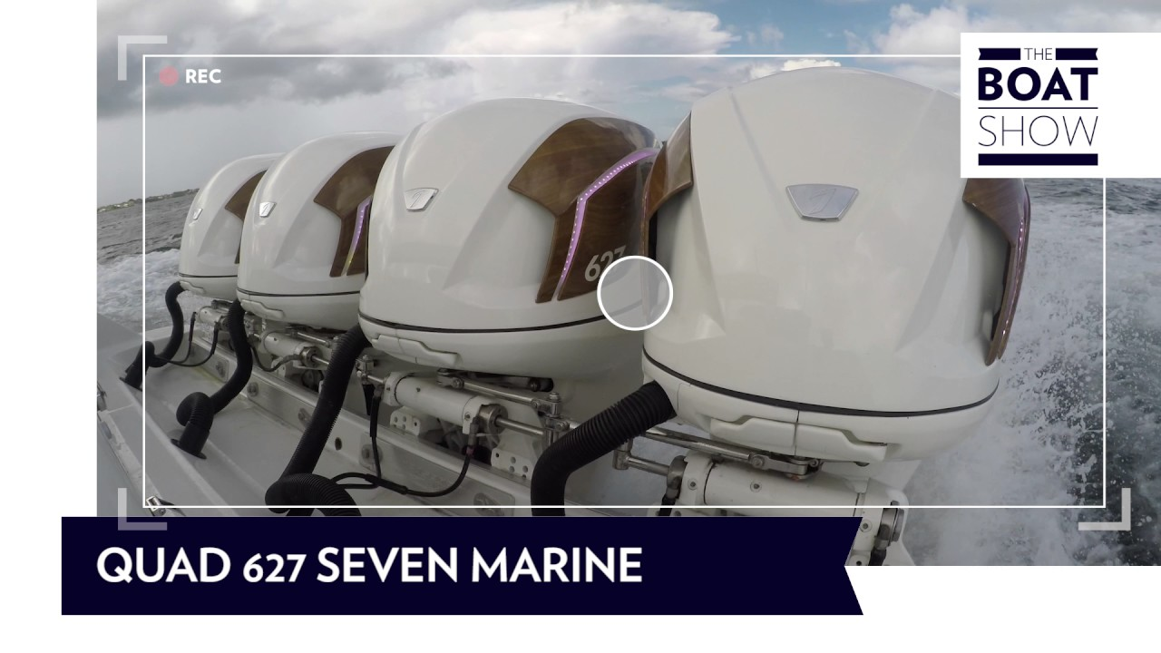 ENGINE SOUND - QUAD SEVEN MARINE 2508 HP - The Boat Show