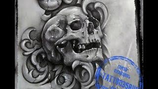 Эскиз череп. Как нарисовать череп.3d Рисунок простым карандашом. Череп поэтапно.