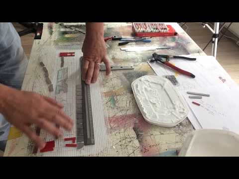 MOSAIC ART - Glue stained glass mosaic tiles on mesh