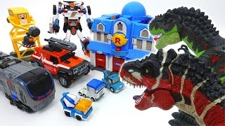 Go Go Tobot Athlon, Rescue Center is Under Attack by Dinosaurs~!