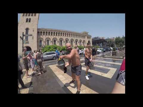 Vardavar In Yerevan Armenia 2018- Huge Water Fight Gopro