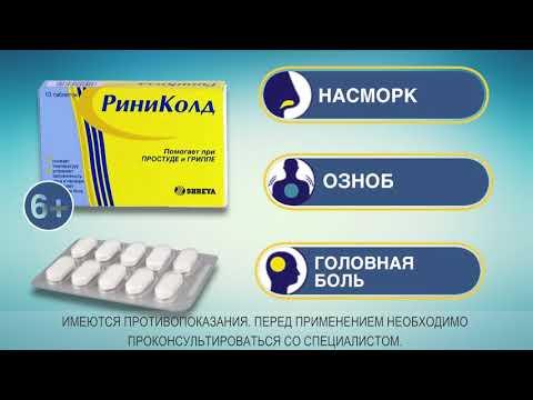 РИНИКОЛД таблетки от симптомов простуды и гриппа