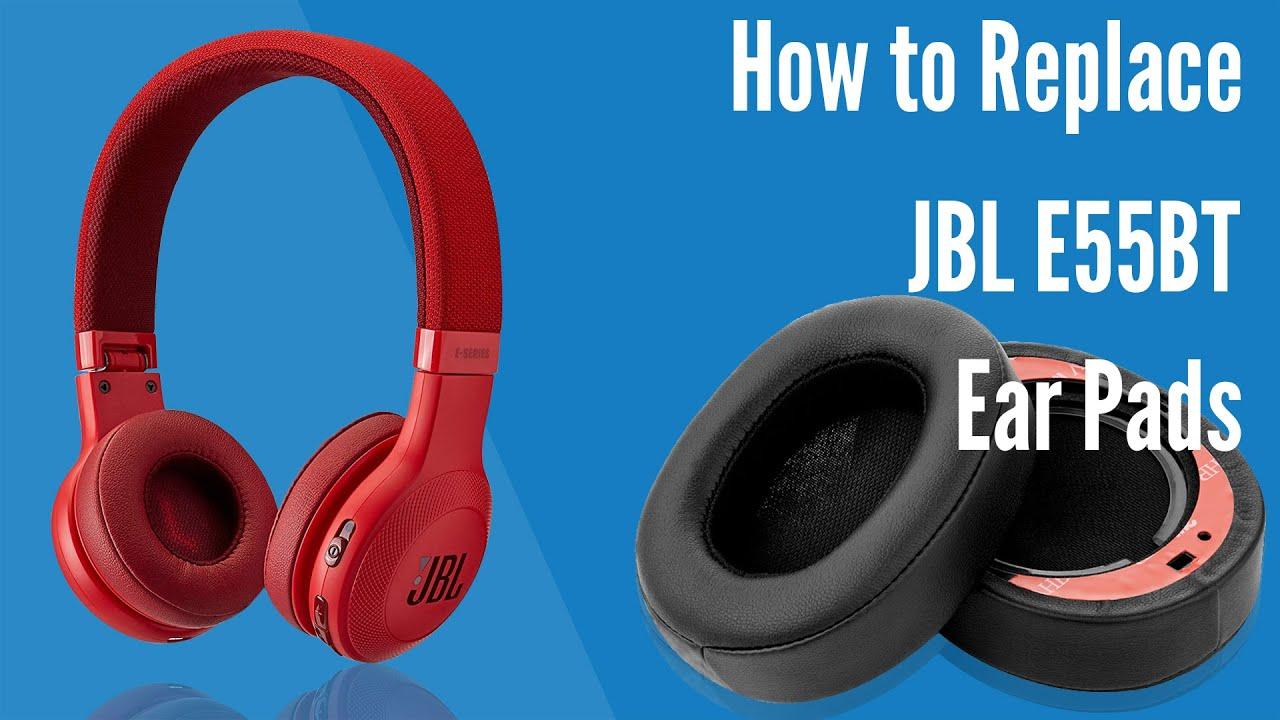 How To Replace Jbl E55bt Headphones Ear Pads Cushions Geekria Youtube