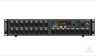 S16 I/O Box with 16 Remote-Controllable MIDAS Preamps, 8 Outputs and AES50 Networking