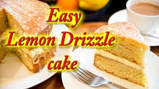 Lemon drizzle cake, and Lemon curd, easy step by step instructions