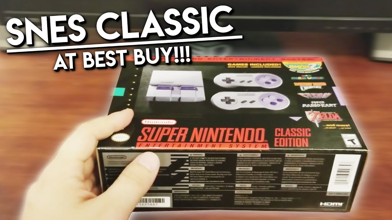 SNES CLASSIC Found at Best Buy!!! - Unboxing