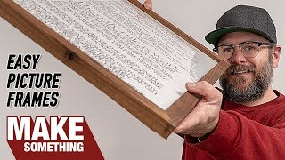 Dead Simple Picture Frames. Easy Woodworking Project. Video