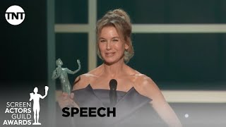 Renée Zellweger: Award Acceptance Speech | 26th Annual SAG Awards | TNT
