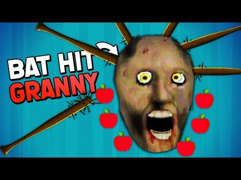 THROWING BATS AT GRANNY'S FACE IN KNIFE HIT MOD! (Granny Mobile 1.5 APK Mods Gameplay)