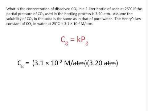 Henry's Law: Relationship Between Pressure and Solubility of a Gas