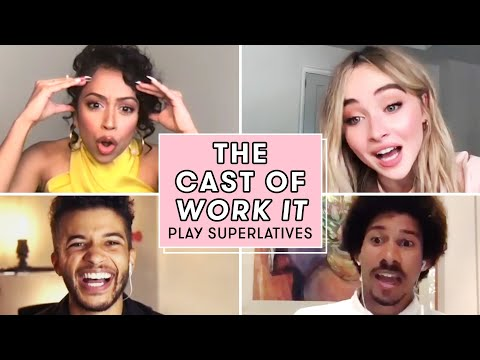 Liza Koshy, Sabrina Carpenter, and the Cast of WORK IT Play Superlatives | Seventeen