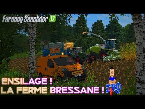 GROS ENSILAGE SUR LA FERME BRESSANE ! 😍 | Farming Simulator 17