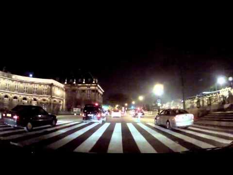 Paris by night at 125 mph - 200 km/h ! (Simulated...)