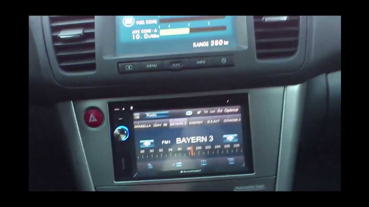 Subaru Legacy Outback >> Subaru Legacy BP feat. Blaupunkt New York 800 Doppel DIN Umbau after market radio install. - YouTube