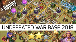 Undefeated Th11 war base 2018 With Replays | Anti everything | coc Th11 war base