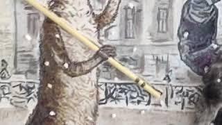 Пушкин и Кот, Поль Мориа,  Paul Mauriat.Подарки своими руками.Картины ручной работы