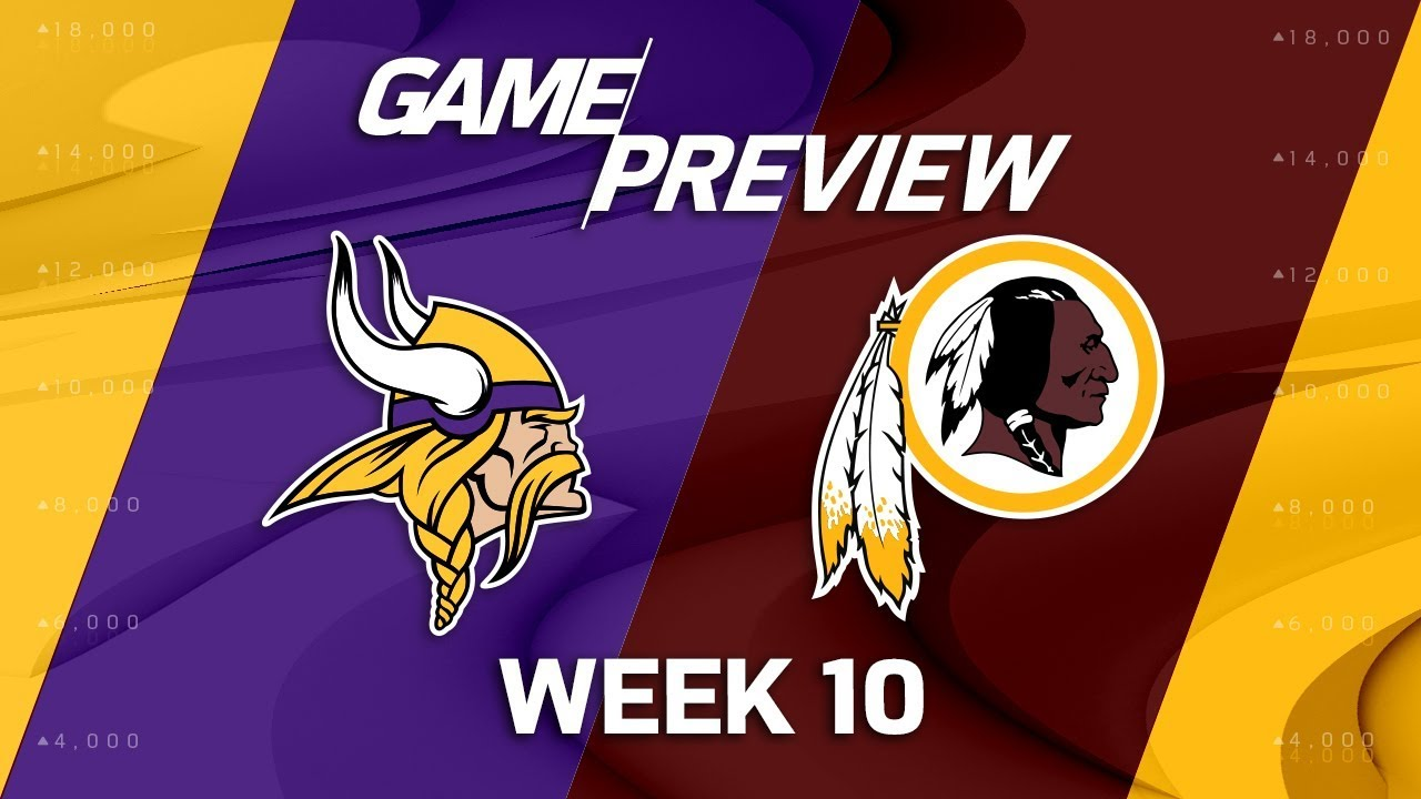 Minnesota Vikings Vs Washington Redskins NFL Week 10