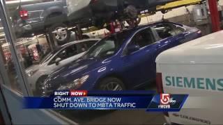 Bridge construction alters Pike traffic, MBTA service