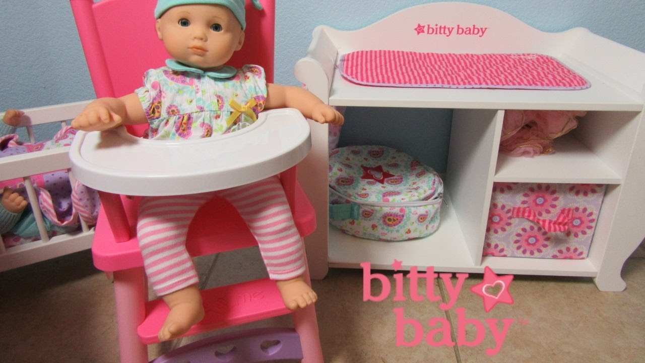 american girl high chair jean prouve nz bitty baby doll ella gets a new by you me youtube