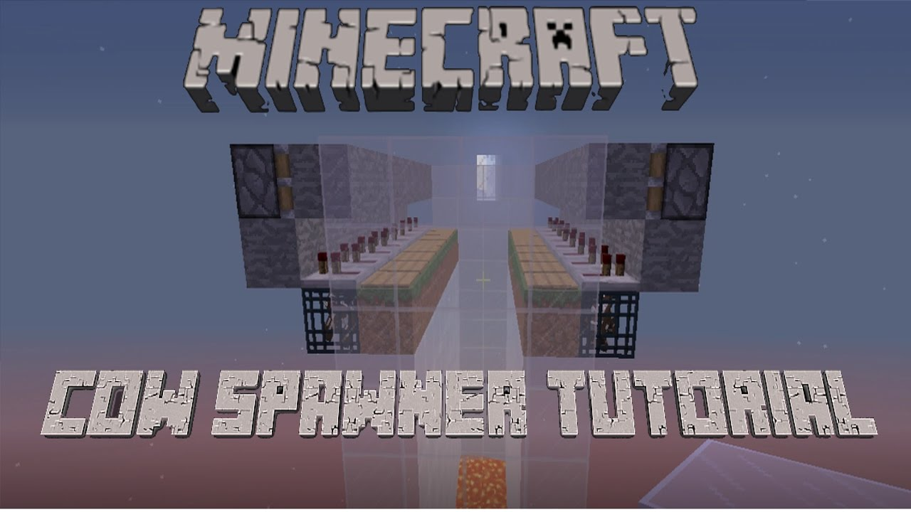 minecraft how to get a cow spawner