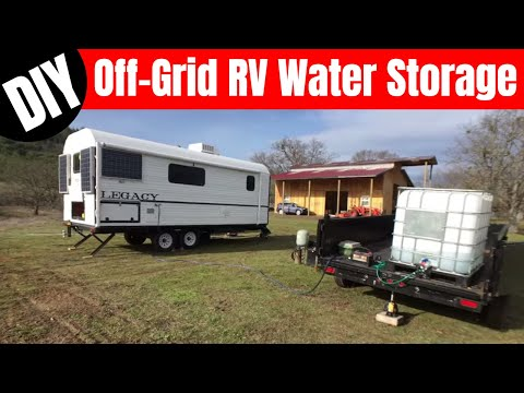 Water Storage System - IBC Tote Off Grid Water System for Camp #216