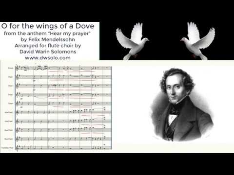 O for the Wings of a Dove for flute choir