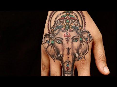 658b076ad LORD GANESHA TATTOO TIMELAPSE   ft. Naina Jain   SKIN MACHINE TATTOO ...