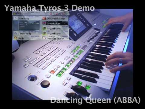 dancing queen yamaha tyros 3 demo youtube. Black Bedroom Furniture Sets. Home Design Ideas