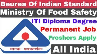 BIS Technical Assistant Recruitment 2020 | ITI Diploma Degree | BIS Form Fill up