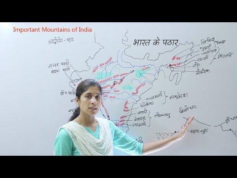 GK Geography India - भारत के पठार | प्रायद्वीपीय भारत के पर्वत | Mountain range of India 2