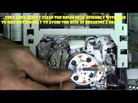 Sony Hi8 8mm VCR Manual Tape Path Cleaning
