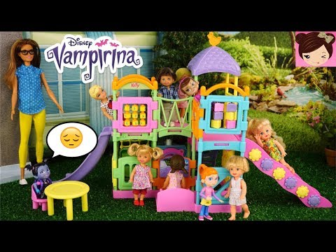 Thumbnail: Vampirina Gets Bullied in the Barbie School Playground - Who Will Stick Up For Her?