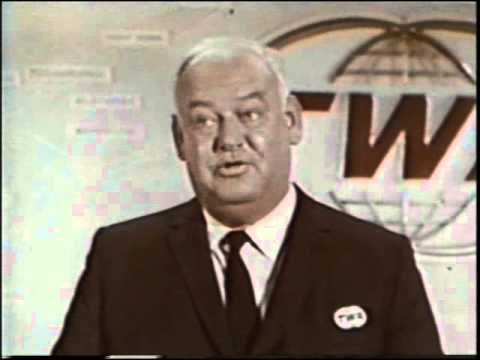 John Banner (Sgt. Schultz, Hogan's Heroes) pitching for TWA Airlines