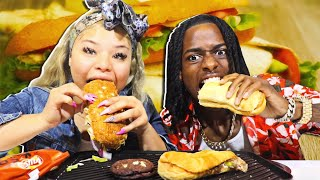 SUBWAY MUKBANG | IT GETS MESSY!!!!