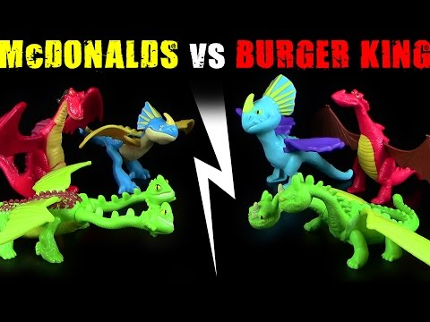 Dragons - McDonalds ® vs Burger King ® - Vergleich / Review