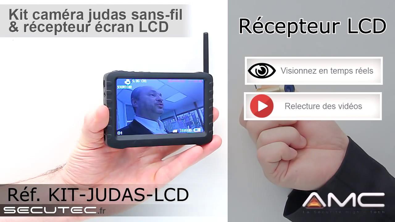 MICRO CAMERA JUDAS AVEC ECRAN LCD SANS FIL [SECUTEC.FR]