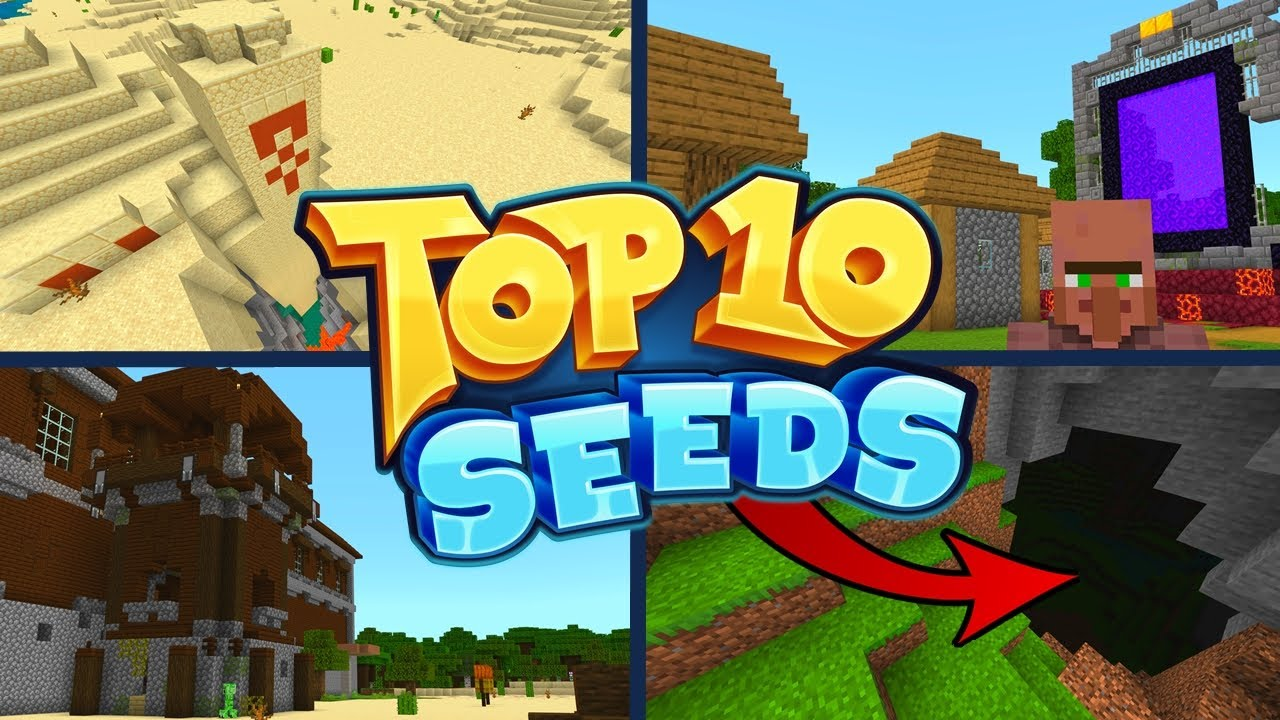 TOP 100 BEST NEW SEEDS For Minecraft 10.106 Bedrock Edition! (Pocket Edition,  Xbox, PS10, Switch & W100)
