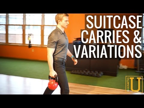How To Do Suitcase Carries & Variations Kinetic U Exercise Series
