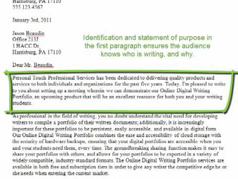Letter Of Inquiry Breakdown - Youtube