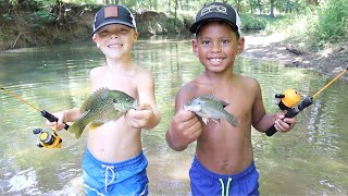Micro Fishing Challenge at the Creek!